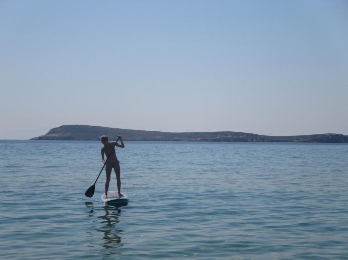 Paddleboarding, Paros
